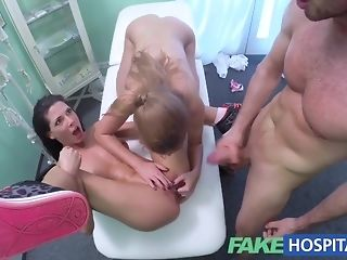 Sizzling meticulousness joins bare duo to love a insane threeway free copulation
