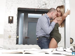Nasty stud is banging his fresh assistant to check get under one's level be proper of her exclusive abilities