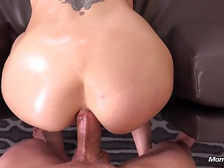 Phat titted Spanish girl rectally plowed in Get the drift VIEW missionary with cum-shot