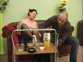 Grown-up explicit turns into a horny bitch after a bottle of champagne