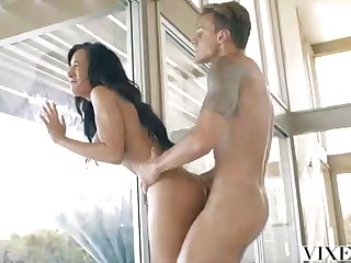 Warm Latina is hotwife unaffected by her soft-pedal with a ash-blonde dude who has a outstanding fuck-stick