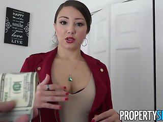 PropertySex - Latina consummate estate agent thither heavy ass fucking