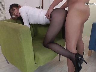 neighbour heels in pantyhose bumptious heels
