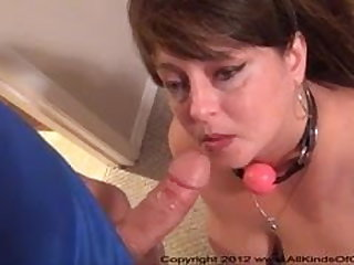 Big Tit Anal Mom Gets Ball Gagged added to Butt Fucked