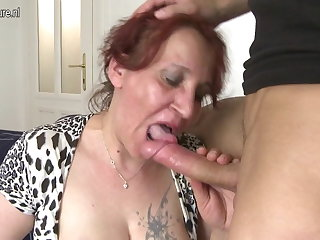 Unruly granny fucking her young womanhood