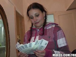 Pretty Czech student trades sex of cash