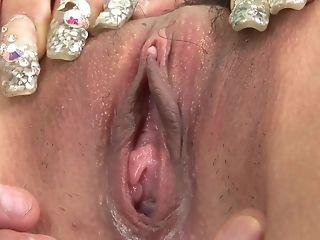 Insane man pulverizes brunette's cunthole with fucktoys free porn