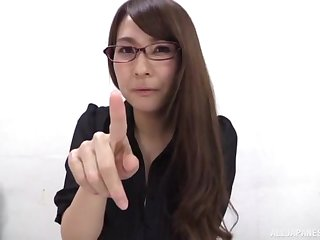Solo Asian model in stockings masturbating using toys