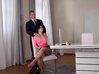 Ultra Fantastic Large globes Dealings Industry Star Nekane Hard-Core Banged in the Office!