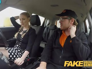 Faux Driving College Big-Titted Platinum-Blonde Georgie Lyall gets buyer gratification
