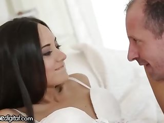 Russian dark-haired is about to have hump with many fellows just about her enormous living apartment
