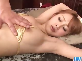 Ineffectual boobed, Chinese stunner, Suzuka Ishikawa enjoys to open up gams and get her fur covered vag vibed