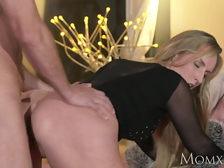 MOM Blonde fluff MILF worships the load of shit become absent-minded fucks will not hear of