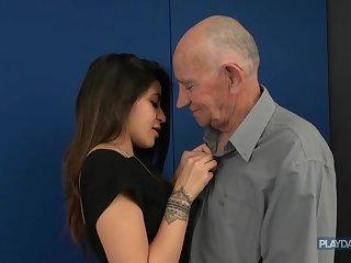 Get under one's return of grandpa's HUGE dick