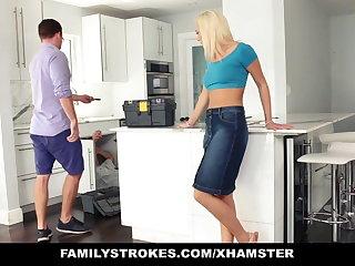 FamilyStrokes - Hot Teen Fucks Her Step-Cousin In Kitchen