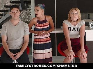 FamilyStrokes - Scavenger Hunt everywhere sis turns sexual