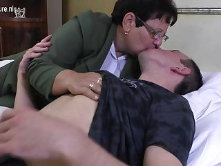 Prohibition mature MOM fucks her young boy