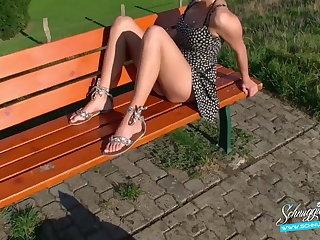 Public Creampie Extreme Risky! Blonde German Schnuggie91