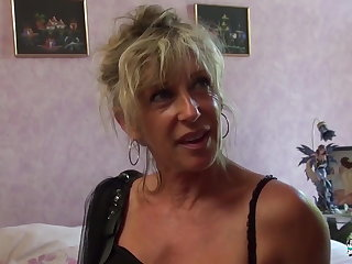 Coldness Cochonne - Mature blonde French newbie gets cum covered
