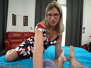 Slutty Mom Cory Chase Gives Step Young gentleman a Helping Hand and Pussy